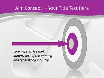 Gray puzzle PowerPoint Template - Slide 83