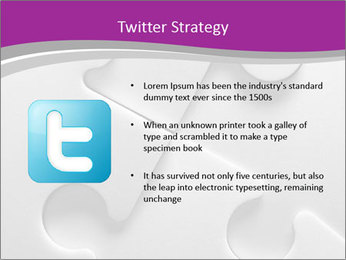 Gray puzzle PowerPoint Templates - Slide 9