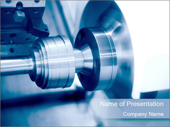 Lathe PowerPoint Template - Slide 1