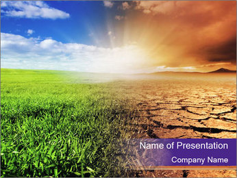 Drought and prosperity. PowerPoint Template