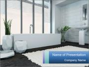 White Livingroom PowerPoint Template