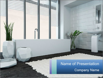 White Livingroom PowerPoint Templates - Slide 1