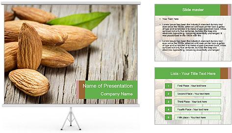 Organic Almonds PowerPoint Template
