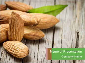 Organic Almonds PowerPoint Template