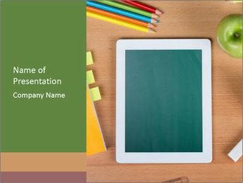 School Tablet PowerPoint Template - Slide 1