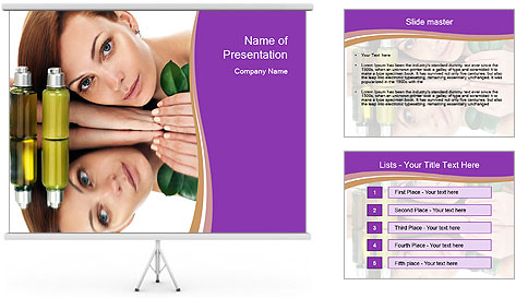 Woman With Cream PowerPoint Template