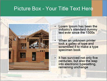 Two beautiful houses made of red brick. PowerPoint Template - Slide 13