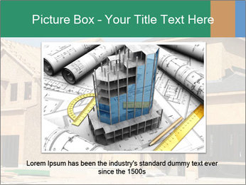 Two beautiful houses made of red brick. PowerPoint Template - Slide 16