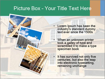 Two beautiful houses made of red brick. PowerPoint Template - Slide 17