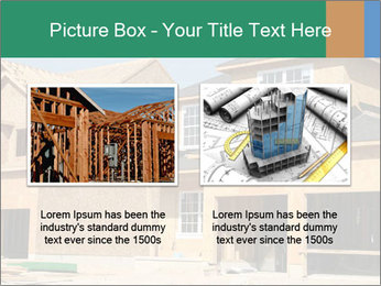 Two beautiful houses made of red brick. PowerPoint Template - Slide 18