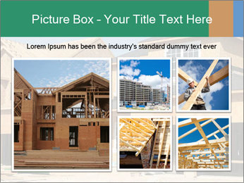 Two beautiful houses made of red brick. PowerPoint Template - Slide 19