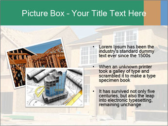Two beautiful houses made of red brick. PowerPoint Template - Slide 20