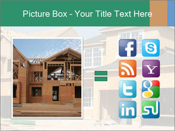 Two beautiful houses made of red brick. PowerPoint Template - Slide 21
