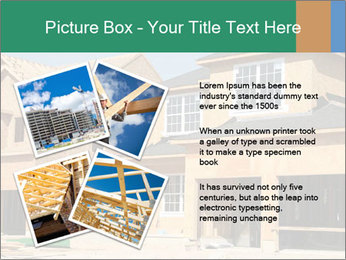 Two beautiful houses made of red brick. PowerPoint Template - Slide 23