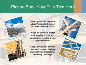 Two beautiful houses made of red brick. PowerPoint Template - Slide 24