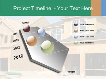 Two beautiful houses made of red brick. PowerPoint Template - Slide 26