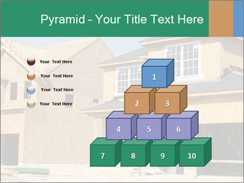 Two beautiful houses made of red brick. PowerPoint Template - Slide 31