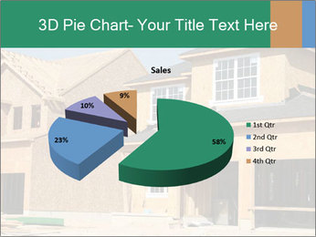 Two beautiful houses made of red brick. PowerPoint Template - Slide 35