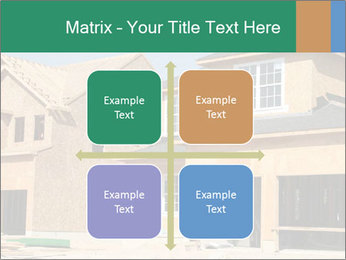 Two beautiful houses made of red brick. PowerPoint Template - Slide 37
