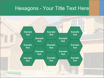 Two beautiful houses made of red brick. PowerPoint Template - Slide 44