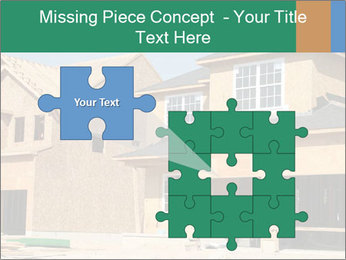 Two beautiful houses made of red brick. PowerPoint Template - Slide 45