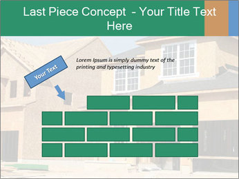 Two beautiful houses made of red brick. PowerPoint Template - Slide 46