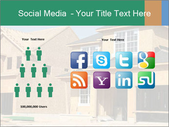 Two beautiful houses made of red brick. PowerPoint Template - Slide 5