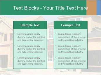 Two beautiful houses made of red brick. PowerPoint Template - Slide 57
