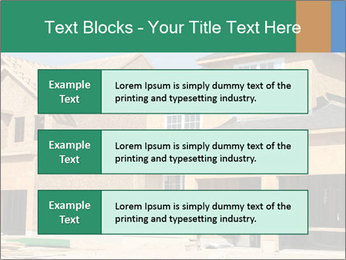 Two beautiful houses made of red brick. PowerPoint Template - Slide 58