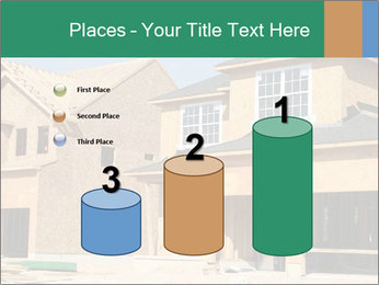 Two beautiful houses made of red brick. PowerPoint Template - Slide 65