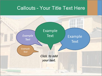 Two beautiful houses made of red brick. PowerPoint Template - Slide 73