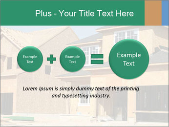Two beautiful houses made of red brick. PowerPoint Template - Slide 75