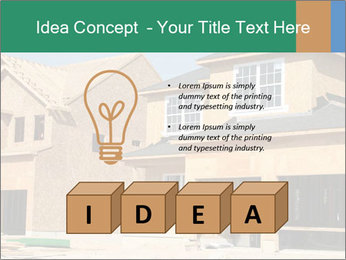 Two beautiful houses made of red brick. PowerPoint Template - Slide 80