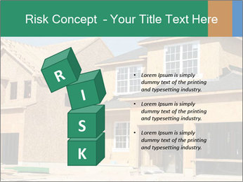 Two beautiful houses made of red brick. PowerPoint Template - Slide 81