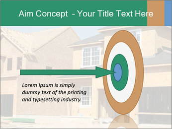 Two beautiful houses made of red brick. PowerPoint Template - Slide 83
