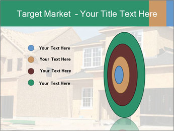Two beautiful houses made of red brick. PowerPoint Template - Slide 84