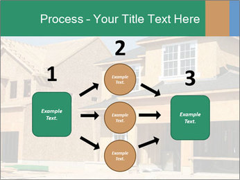 Two beautiful houses made of red brick. PowerPoint Template - Slide 92