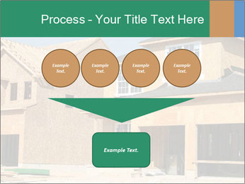 Two beautiful houses made of red brick. PowerPoint Template - Slide 93