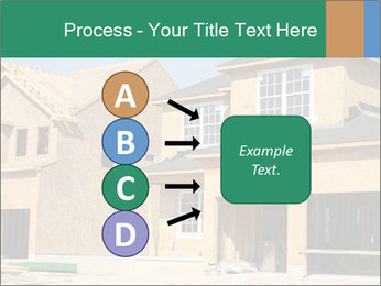 Two beautiful houses made of red brick. PowerPoint Template - Slide 94
