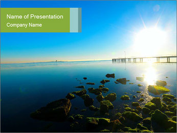 Dawn on the ocean PowerPoint Template
