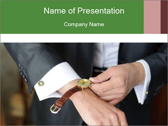 Businessman dress favorite watch. PowerPoint Template