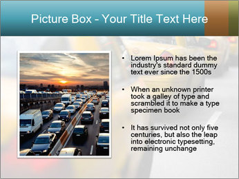 The line of yellow taxis. PowerPoint Template - Slide 13