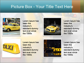 The line of yellow taxis. PowerPoint Template - Slide 14