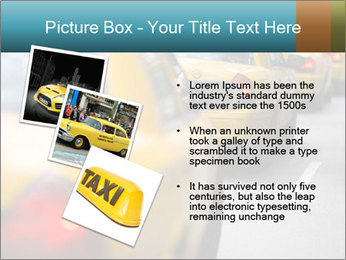 The line of yellow taxis. PowerPoint Template - Slide 17