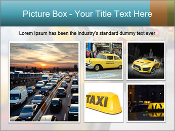 The line of yellow taxis. PowerPoint Template - Slide 19