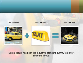 The line of yellow taxis. PowerPoint Template - Slide 22