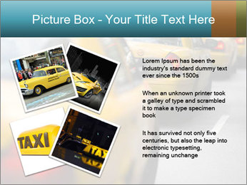 The line of yellow taxis. PowerPoint Template - Slide 23