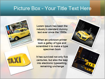 The line of yellow taxis. PowerPoint Template - Slide 24