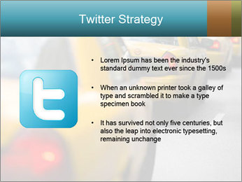 The line of yellow taxis. PowerPoint Template - Slide 9