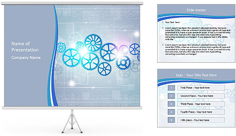 Gear Composition PowerPoint Template